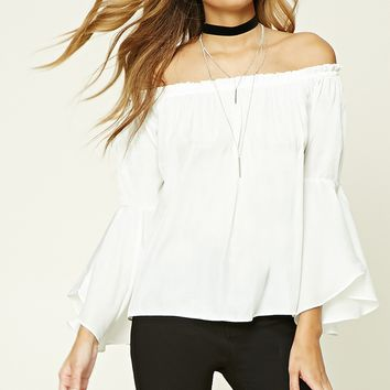 Off-the-Shoulder Trumpet Top