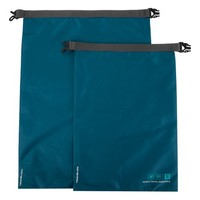 Teal World Travel Essentials Dry Bags - Set of Two