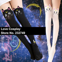 Japanese Anime Sailor Moon Accessories Cat Luna Black White Tights For Women Girls Cosplay Costume-in Tights from Apparel & Accessories on Aliexpress.com | Alibaba Group