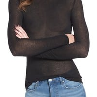 Leith Lightweight Long Sleeve Funnel Neck Top | Nordstrom