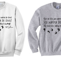 NEW - Ed Sheeran Kiss Me Lyrics Crewneck Sweatshirt