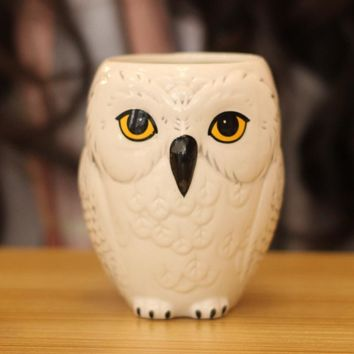 Creative Owl Relief Cup Coffee Mug Home Decor