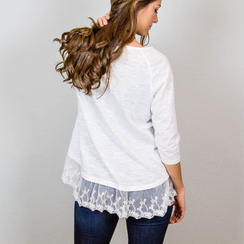 Lovely in Lace Top - Umgee Brand