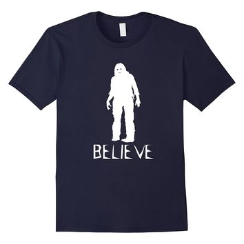 Believe Bigfoot Sasquatch - Scary Costume T Shirt