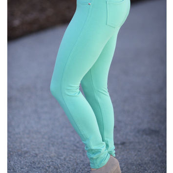 Perfect Fit Jeggings Mint