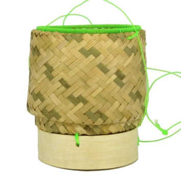 Thai Sticky Rice Basket Small Single Serving Handmade Bamboo