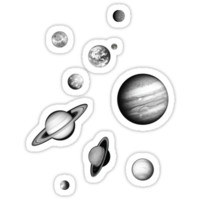 Black and White Solar System