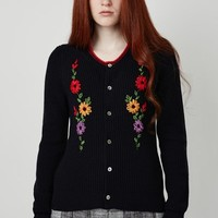 Comme des Garcons Girl Flower Embroidered Cardigan - WOMEN - Comme des Garcons Girl