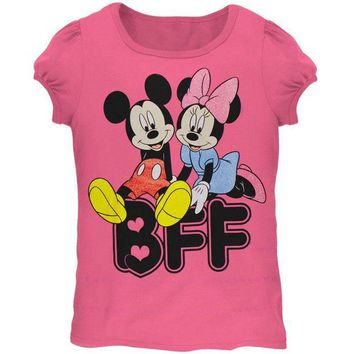 DCCK8UT Minnie Mouse BFF Hearts Juvy Girls T-Shirt