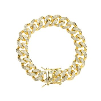 15mm Iced Cuban Link Bracelet