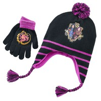 Disney's Descendants ''Good Is The New Bad'' Hat & Gloves Set - Girls 7-16, Size: One Size (Purple/Black)