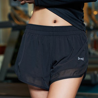 Lace Mosaic Slim Quick Dry Summer Gym Yoga Pants Shorts [4919143492]