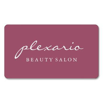 Simple MALAGA Modern Beauty Salon Business Card