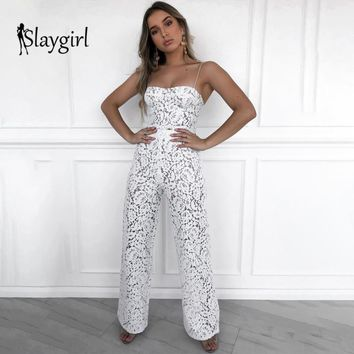 Slaygirl 2019 New Sexy 2 Piece Set women Summer Two piece set Backless tracksuit White two piece set top and pants Club Party