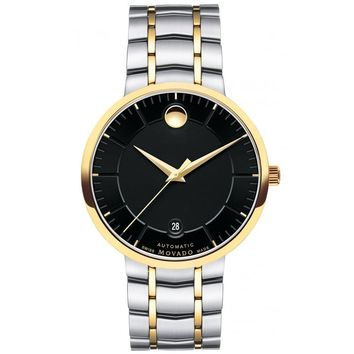 Men's Movado 1881 Automatic Two-Tone Black Dial Watch