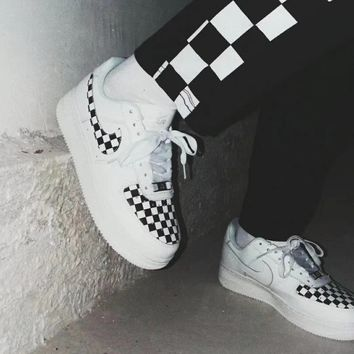 """Nike""""Authentic CHECKBOARD"""" Air Force shoes"""