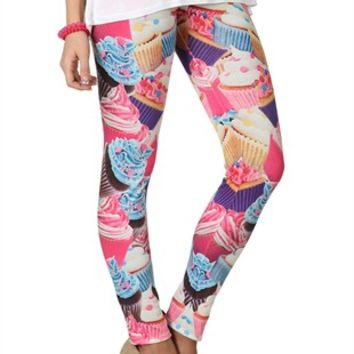 Cupcake Print Leggings