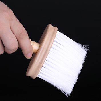 Proessional Wood Neck Duster Clean Brush Barbers Hair Cutting Hairdressing Stylist Salon SM6