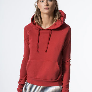 Pull Over Hoodie Sweatshirts in Red