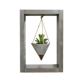 Mini Planter, Air Planter, Wall Planter, Succulent Planter, Concrete Planter, Bronze Planter, Modern Planter, Air Plant Holder, Shadow Box