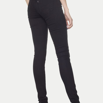 Levi's 710 0005 Black Super Skinny Wash Denim Jeans Size 6 28 X 32