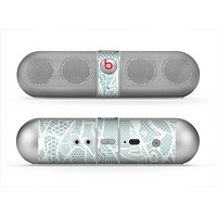 The Subtle Green and White Lace Design Skin for the Beats by Dre Pill Bluetooth Speaker