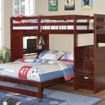 Jacob Bunk Bed with Desk and Stairs