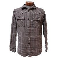 Men's Gray Flannel with 5 Pockets Size Medium Thick Cotton