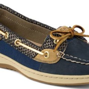 Sperry Top-Sider Angelfish Fishscale Slip-On Boat Shoe Navy, Size 5.5M  Women's Shoes