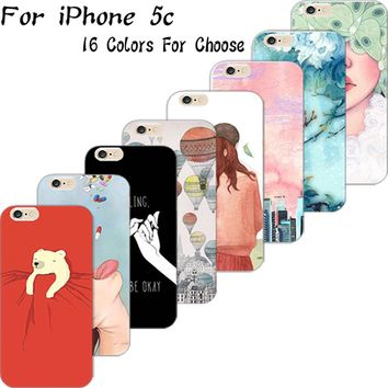 5C Hard PC Phone Cover Cases For Apple iPhone 5C Case Shell The With Love Is Kind Of Antidote Everybody Think Eat