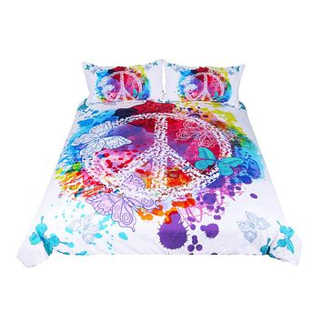Watercolor Butterfly - Bed Set