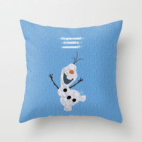 Olaf // Frozen Throw Pillow by Lukas Emory
