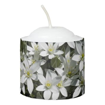 Star of Bethlehem Flowers Photo Votive Candle
