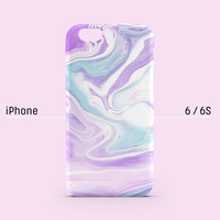 iPhone case - Lavender and Violet Lilac Color Marbling - iPhone 6 case, iPhone 6 Plus case, iPhone 5s case, iPhone 5 case non-glossy