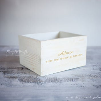 Rustic wedding invitation gold wedding wishes cards box wedding advice cards advice for parents bridal shower invitations wedding advice box