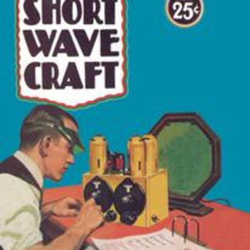 Short Wave Craft: How to Make the New All-Wave Receiver: Fine art canvas print (12 x 18)