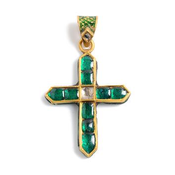 Emerald Cross Pendant