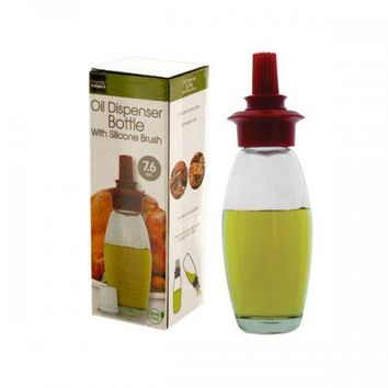 Oil Dispenser Bottle With Silicone Brush