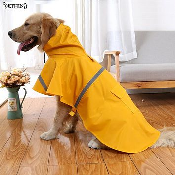 S-4XL The new large dog raincoat dog coat Leisure pet clothes dog raincoat teddy bear big dog raincoat factory direct sale