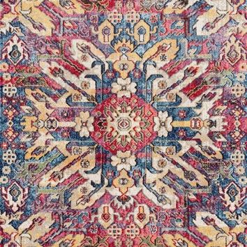 2068 Multi-Color Abstract Colorful Oriental Area Rugs