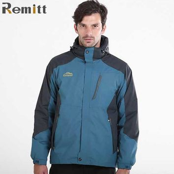 Winter Men Thermal Fleece Jacket Male Military Waterproof Windbreaker Anorak Plus Size 4XL 5XL 6XL Warm Blue Hooded Overcoat