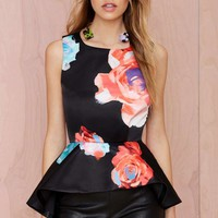 Nasty Gal Bloom and Board Peplum Top