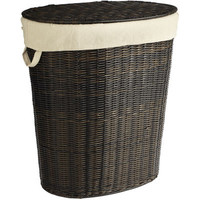Collin Mocha Wicker Laundry Hamper