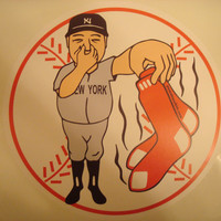 12 inch RED SOX STINK New York Yankees Wall Print (similar to a Fathead)