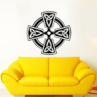 Celtic Cross Wall Decal Celtic Cross Decals Wall Vinyl Sticker Interior Home Decor Vinyl Art Wall Decor Bedroom SV5855