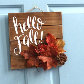 Hello Fall Rustic Wall Decor | 10-in (FINAL SALE)