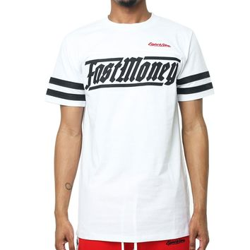 Fast Money Football T Shirt White