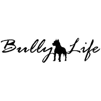 30.5CM*7.5CM Buly Life Vinyl Decal Auto Pit Bull Dog Car Sticker Resues Vehicle Car Stylings Accessories Black Sliver C8-1073
