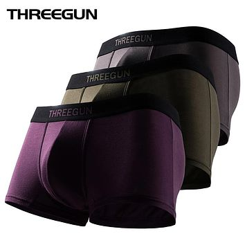 Mens Underwear Breathable Boxer Shorts Solid High Elastic Casual Gay Men Underwear