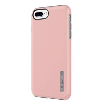 LMFXT3 iPhone 8 Case, iPhone 7 Case, Incipio Premium DualPro Shockproof Hard Shell Hybrid Rugged Dual Layer Protective Outer Shell Shock and Impact Absorption Cover - Iridescent Rose Gold/Gray